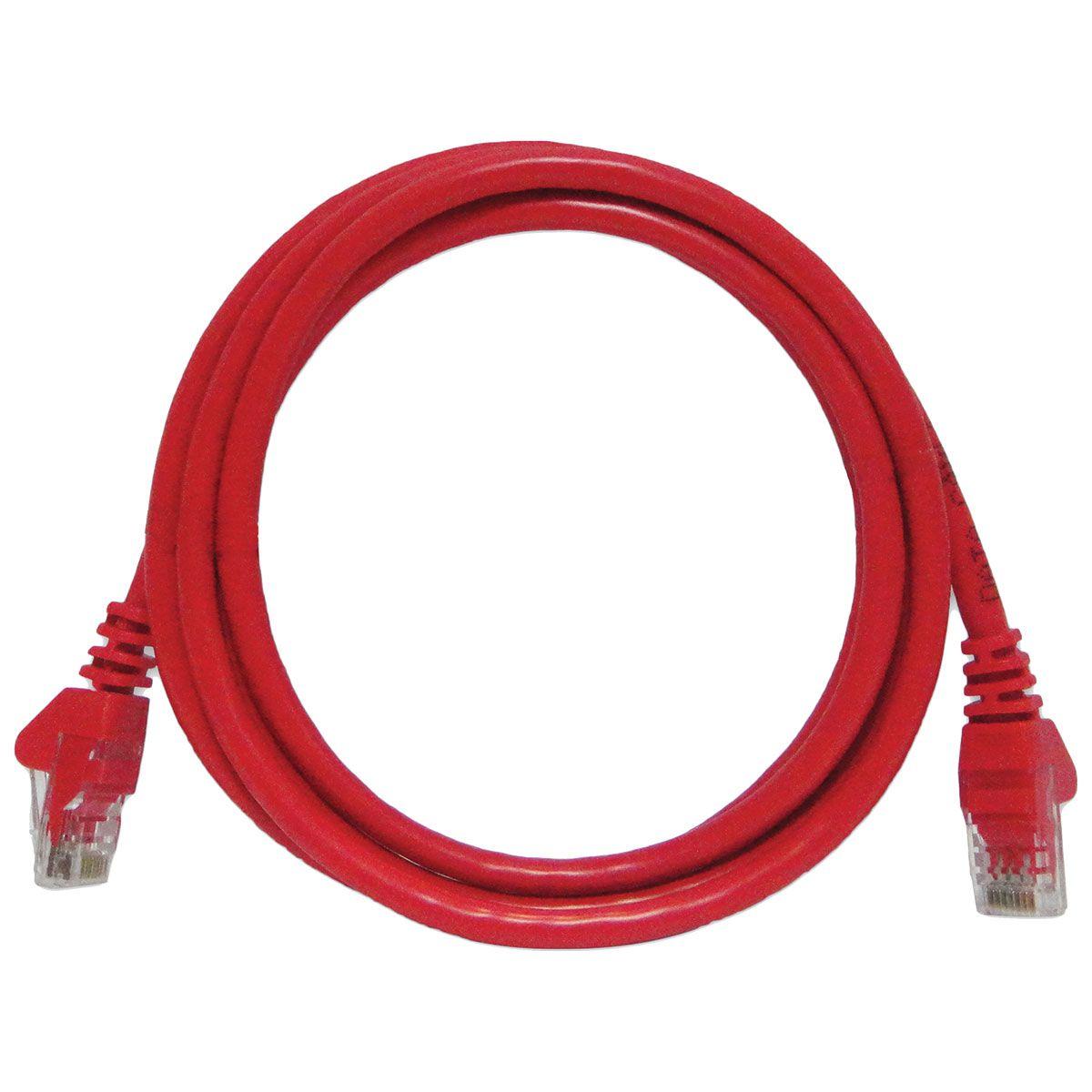 Patch Cord UTP CAT6 26AWG Padrão 568B 2.5m Vermelho CY-PC2.5M-6-26RD 29590 - Seccon