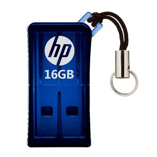 Pen Drive 16GB USB 2.0 Mini V165W Azul HPFD165W-16 - HP