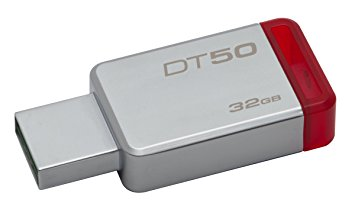 Pen Drive 32GB Datatraveler 50 USB 3.1 Metal/Vermelho DT50/32GB - Kingston