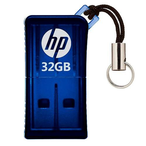 Pen Drive 32GB USB 2.0 Mini V165W Azul HPFD165W-32 - HP