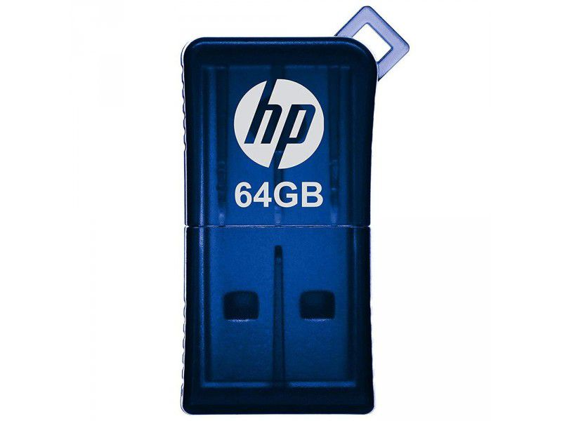 Pen Drive 64GB USB 2.0 Mini V165W Azul HPFD165W-64 - HP