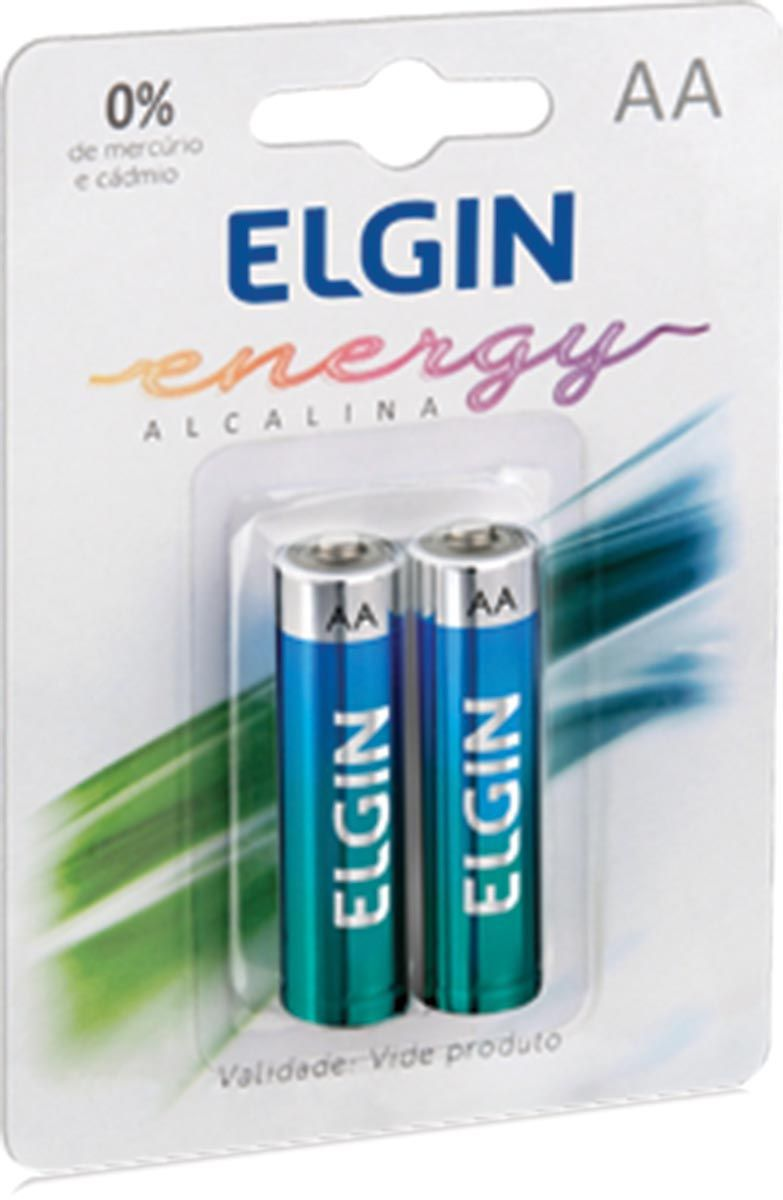 Pilha AA Alcalina com 2 Unidades 82152 - Elgin