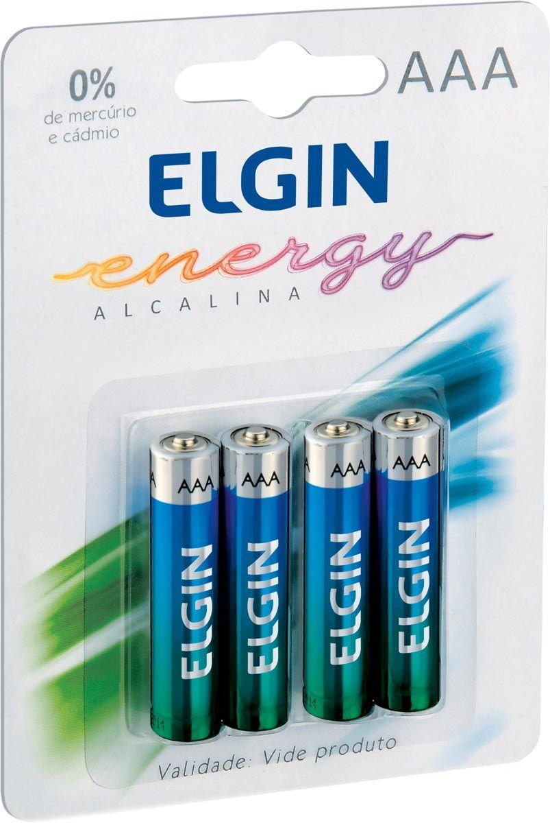 Pilha AAA Alacalina com 4 Unidades 82155 - Elgin