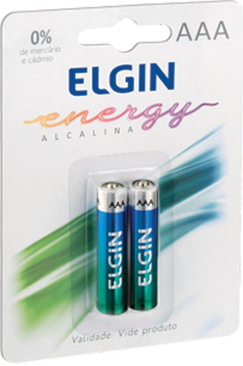Pilha AAA Alcalina com 2 Unidades 82154 - Elgin