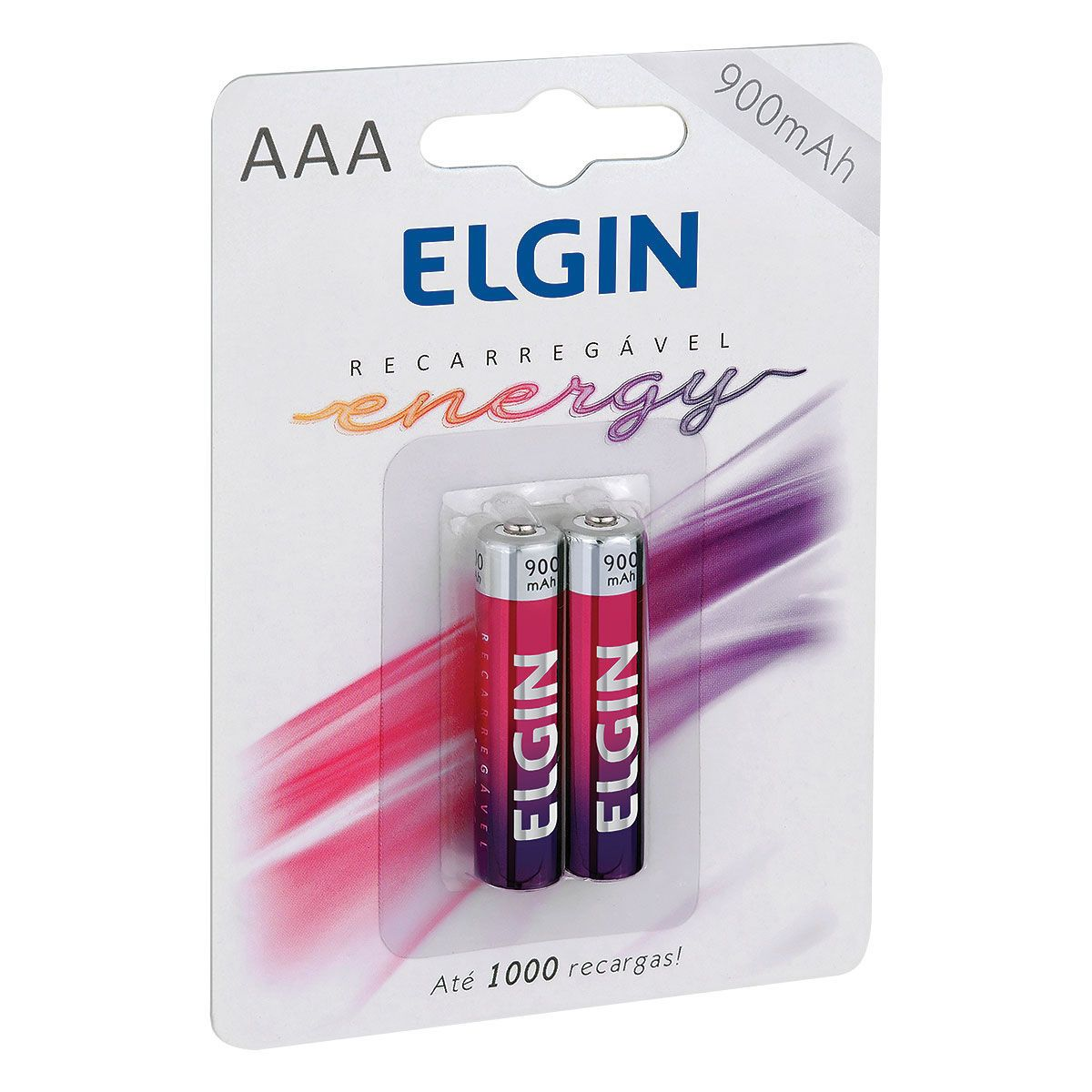 Pilha Recarregável AAA 900mAh com 02 Unidades 82168 - Elgin