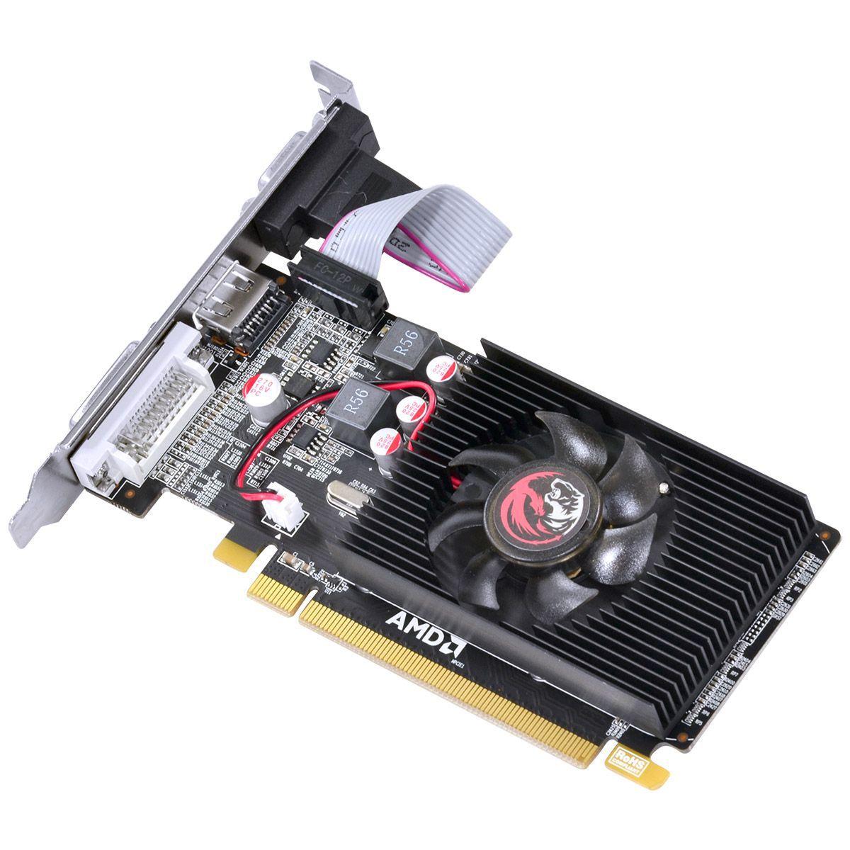 Placa de Vìdeo AMD 6450 2GB DDR3 64 Bits com kit low profile PJ64506402D3LP - Pcyes