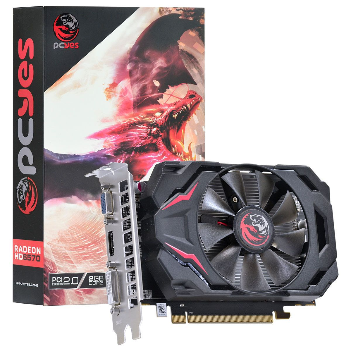 Placa de Vídeo AMD Radeon 6570 2GB DDR3 128 Bits PW657012802D3 - Pcyes