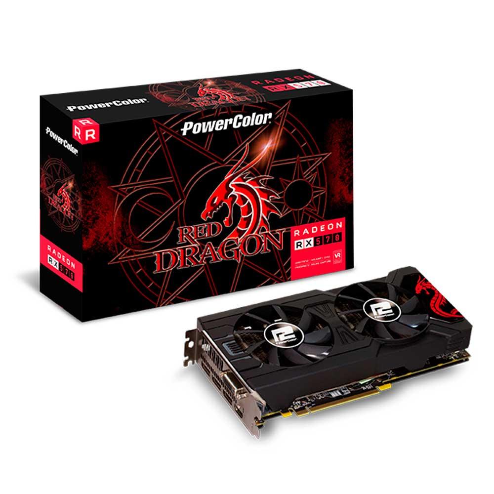 Placa de Vídeo AMD RX570 4GB GDDR5 256 Bits AXRX 570 4GBD5-3DHDV2/OC - Power Color