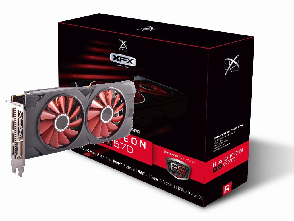 Placa de Vídeo AMD RX 570 RS 8GB GDDR5 XXX Edition RX-570P8DFD6 - XFX