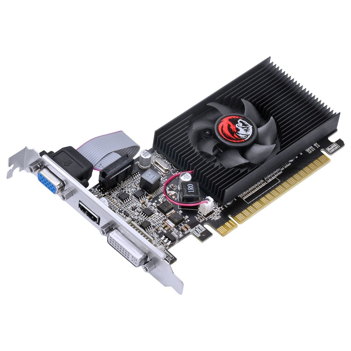 Placa de Vídeo GeForce G210 1GB DDR3 64 Bits com Kit (Low Profile Incluso) PA210G6401D3LP - Pcyes