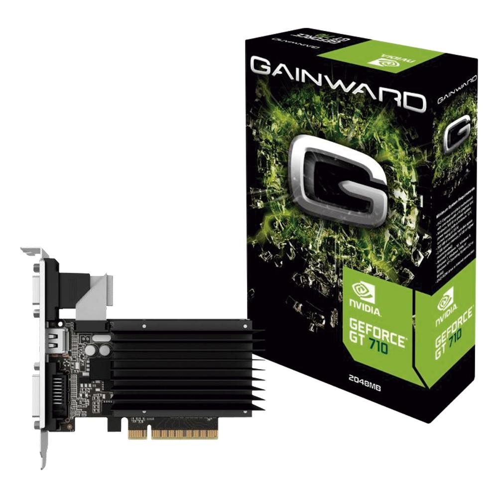 Placa de Vìdeo Geforce GT 710 2GB DDR3 NEAT7100HD46-2080H - Gainward