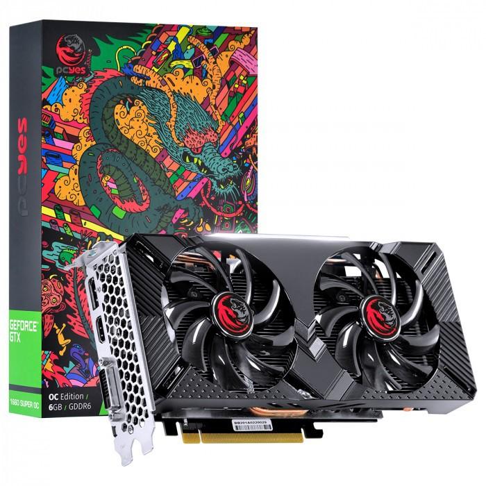 Placa de Vídeo GeForce GTX1660 OC 6GB GDDR5 192Bits Graffiti Series PPOC166019206G5 33641 - Pcyes