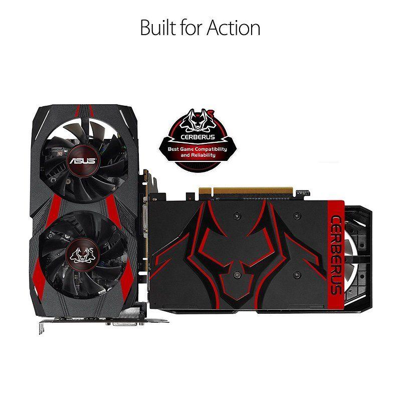 Placa de Vídeo Geforce GTX 1050 Ti Cerberus-GTX1050TI-O4G - Asus