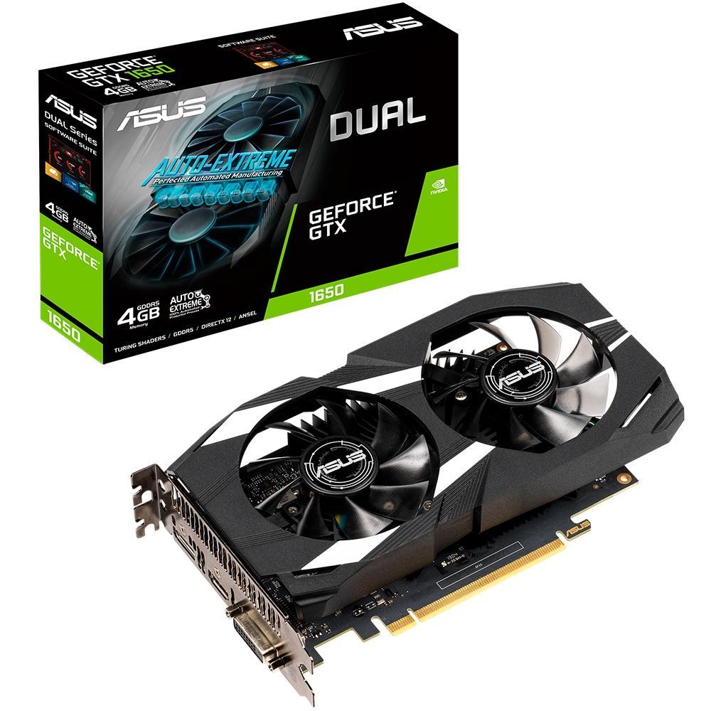 Placa de Vídeo Geforce GTX 1650 4GB, GDDR5 DUAL-GTX1650-4G - Asus
