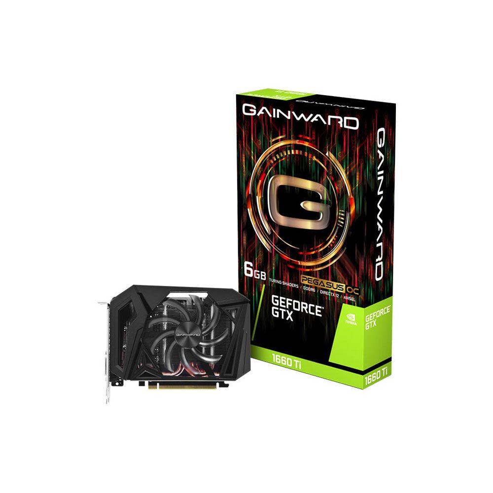 Placa de Vídeo GeForce GTX 1660TI 6GB Pegasus OC GDDR6 192 Bits NE6166TS18J9-161F - Gainward