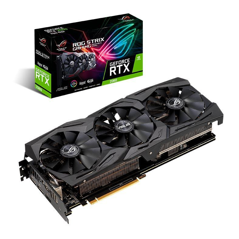 Placa de Vídeo Geforce RTX 2060 6GB GDDR6 ROG-STRIX 192Bit ROG-STRIX-RTX2060-A6G-GAMING - Asus