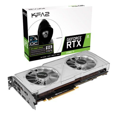 Placa de Vídeo GeForce RTX 2080Ti 11GB GDDR6 352 Bits Dual White RGB 1 Click OC 28IULBUCT4KW - Galax