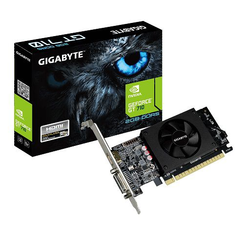 Placa de Vídeo GT 710 2GB DDR5 Low Profile GV-N710D5-2GL - Gigabyte