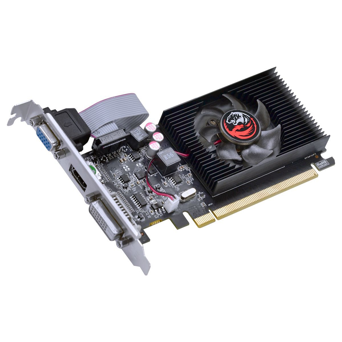Placa de Vídeo Radeon HD 5450 1GB DDR3 64 Bits com Kit Low Profile Incluso PJ54506401D3LP - Pcyes