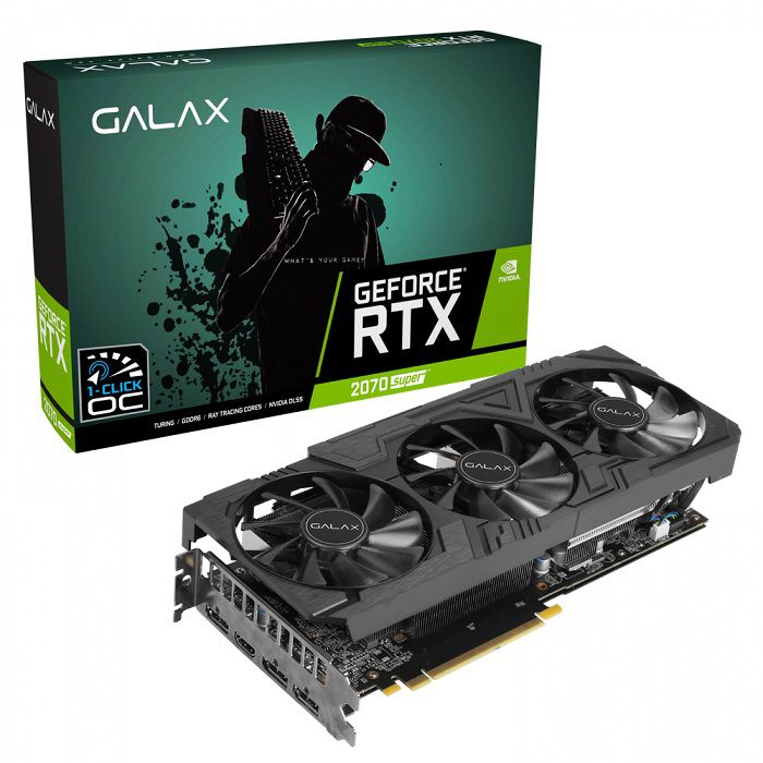 Placa de Vídeo RTX 2070 8GB Super Ex Gamer Black 256Bits 27ISL6MDW0BG - Galax