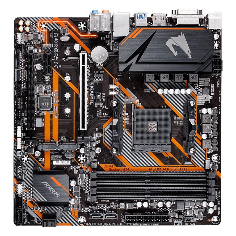 Placa Mãe AM4 B450M Aorus Elite DDR4 - Gigabyte