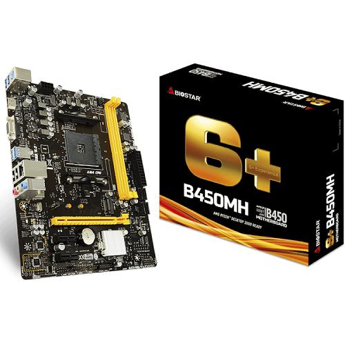 Placa Mãe AM4 B450MH Chipset 450 DDR4 - Biostar