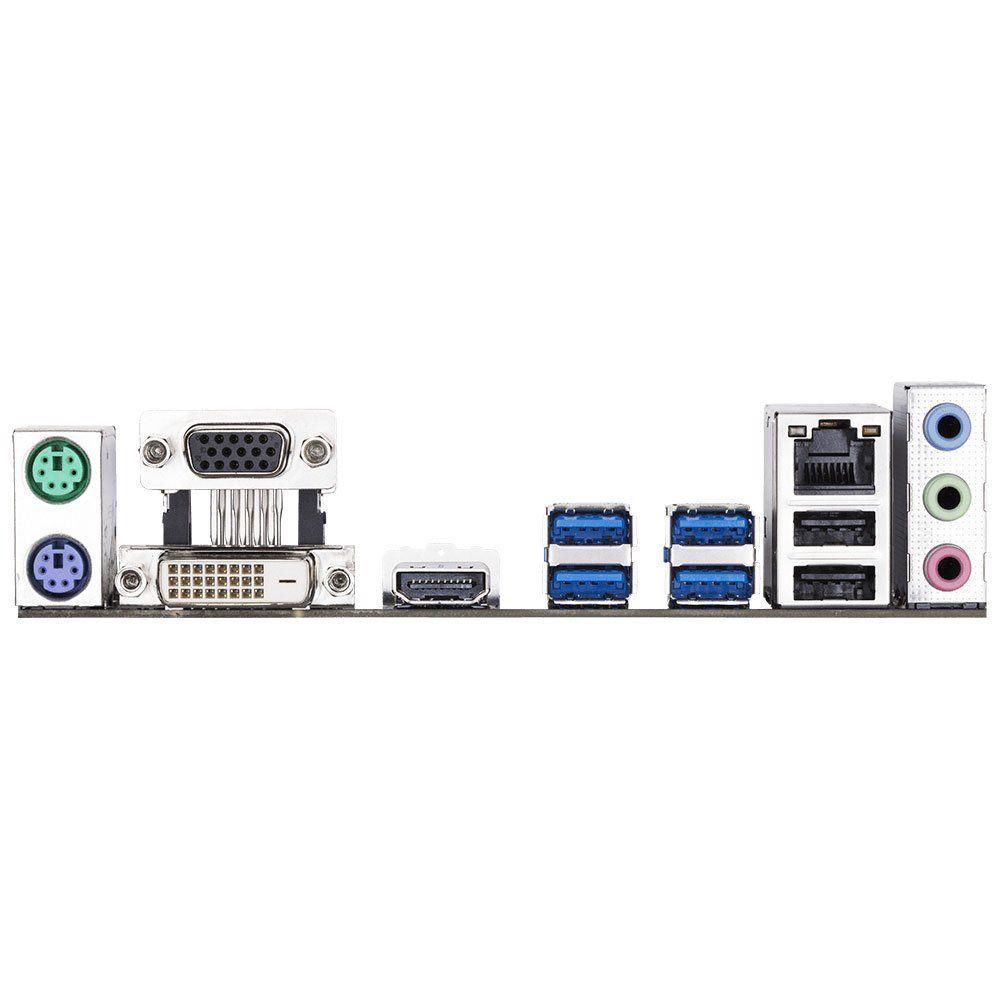 Placa Mãe AM4 GA-A320M-S2H DDR4 HDMI, DVI, M.2 - Gigabyte