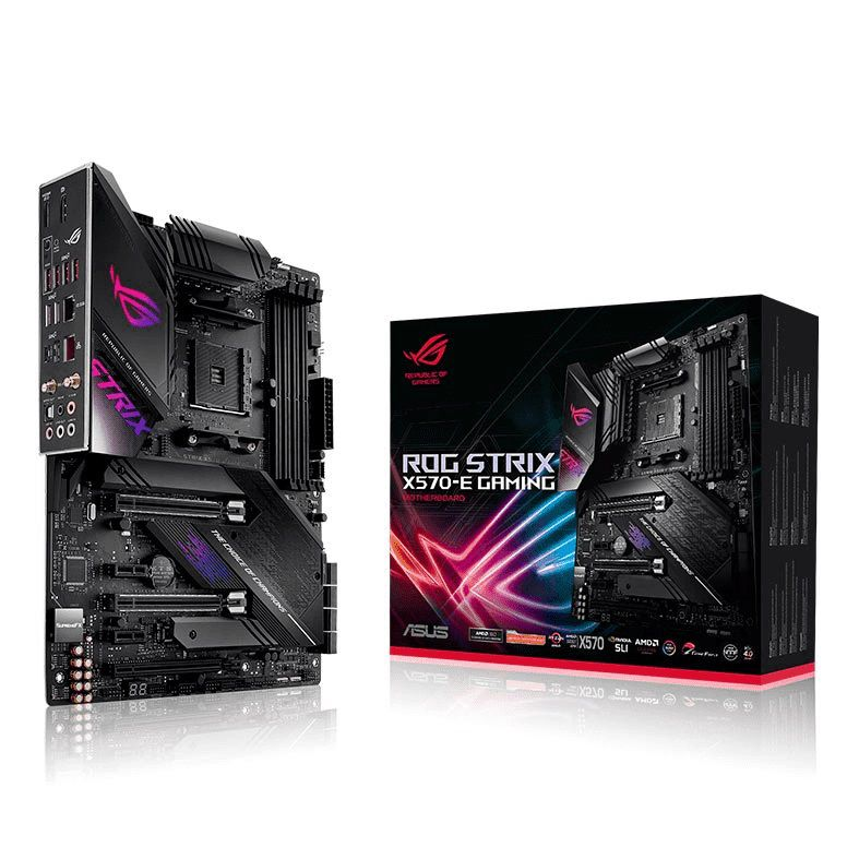 Placa Mãe AM4 ROG Strix X570-E Gaming DDR4 Wi-fi M.2 USB 3.2 Aura Sync - Asus