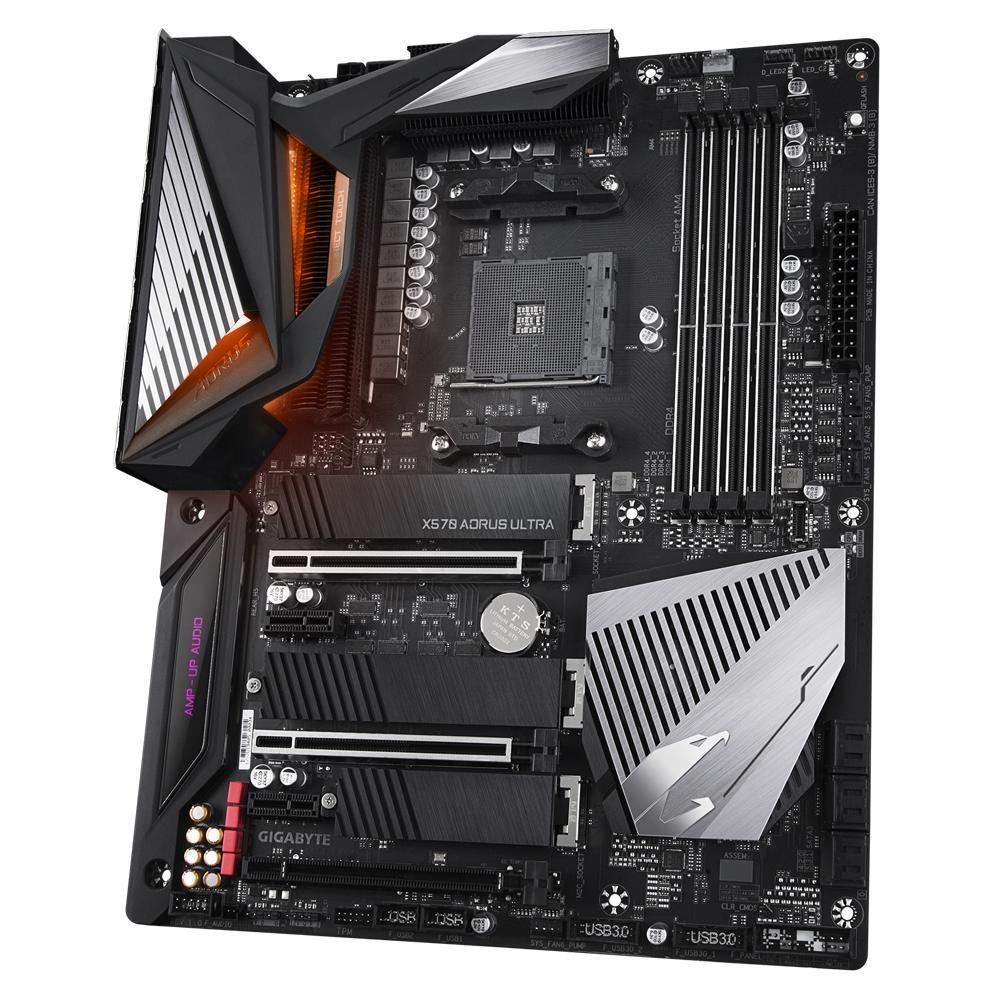 Placa Mãe AM4 X570 Aorus Ultra RGB WI-FI DDR4 USB 3.2 PCIe 4.0 M.2 - GIgabyte