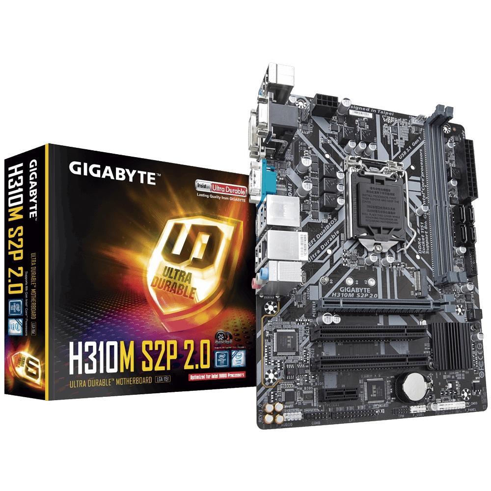 Placa Mãe H310M S2P 2.0 LGA 1151 DDR4 - Gigabyte