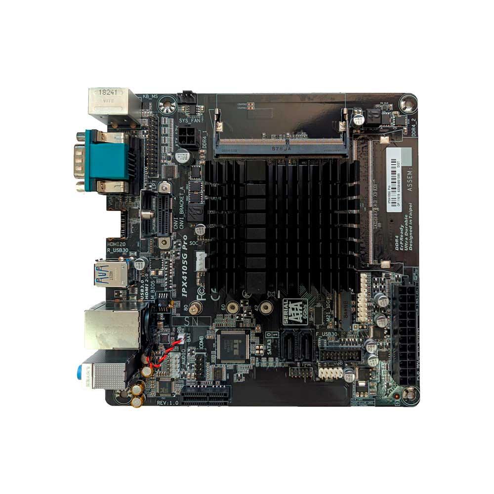 Placa Mãe ITX + Processador Intel Celeron Quad Core J4105 DDR4 M.2 USB 3.0 HDMI IPX4105G PRO - Pcware