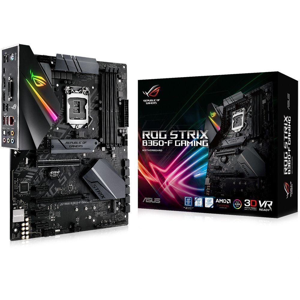 Placa Mãe LGA 1151 ATX Rog Strix B360-F Gaming DDR4 USB 3.1 Aura RGB Dual M.2 - Asus