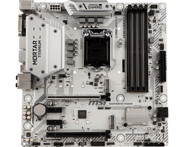 Placa Mãe LGA 1151 B360M MORTAR TITANIUM USB 3.1 Display Port/HDMI/DVI - MSI