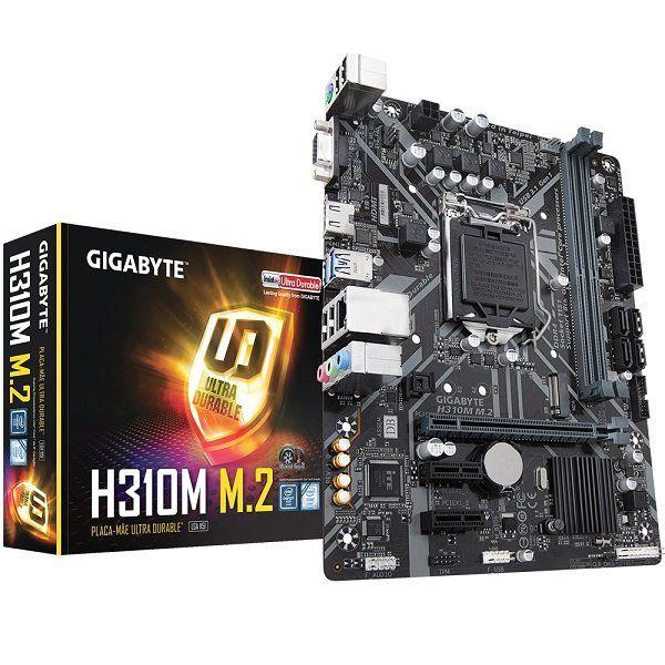 Placa Mãe LGA 1151 H310M M.2 2.0 DDR4 - Gigabyte