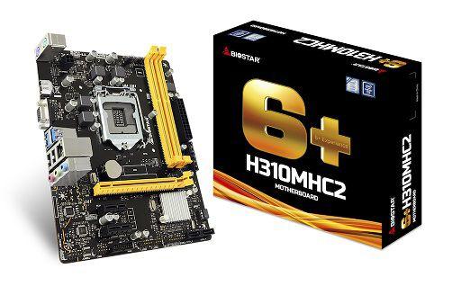 Placa Mãe LGA 1151 H310MHC2 DDR4 VGA/HDMI - Biostar