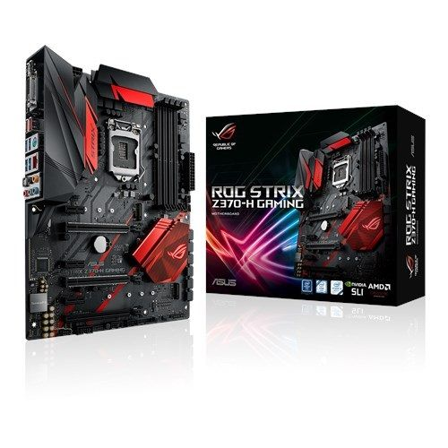 Placa Mãe LGA 1151 Z370-H Gaming ROG Strix DDR4 USB 3.1 - Asus
