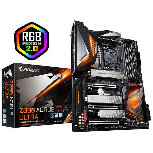 Placa Mãe LGA 1151 Z390 AORUS ULTRA RGB DDR4 WIFI USB 3.1 M.2 - Intel