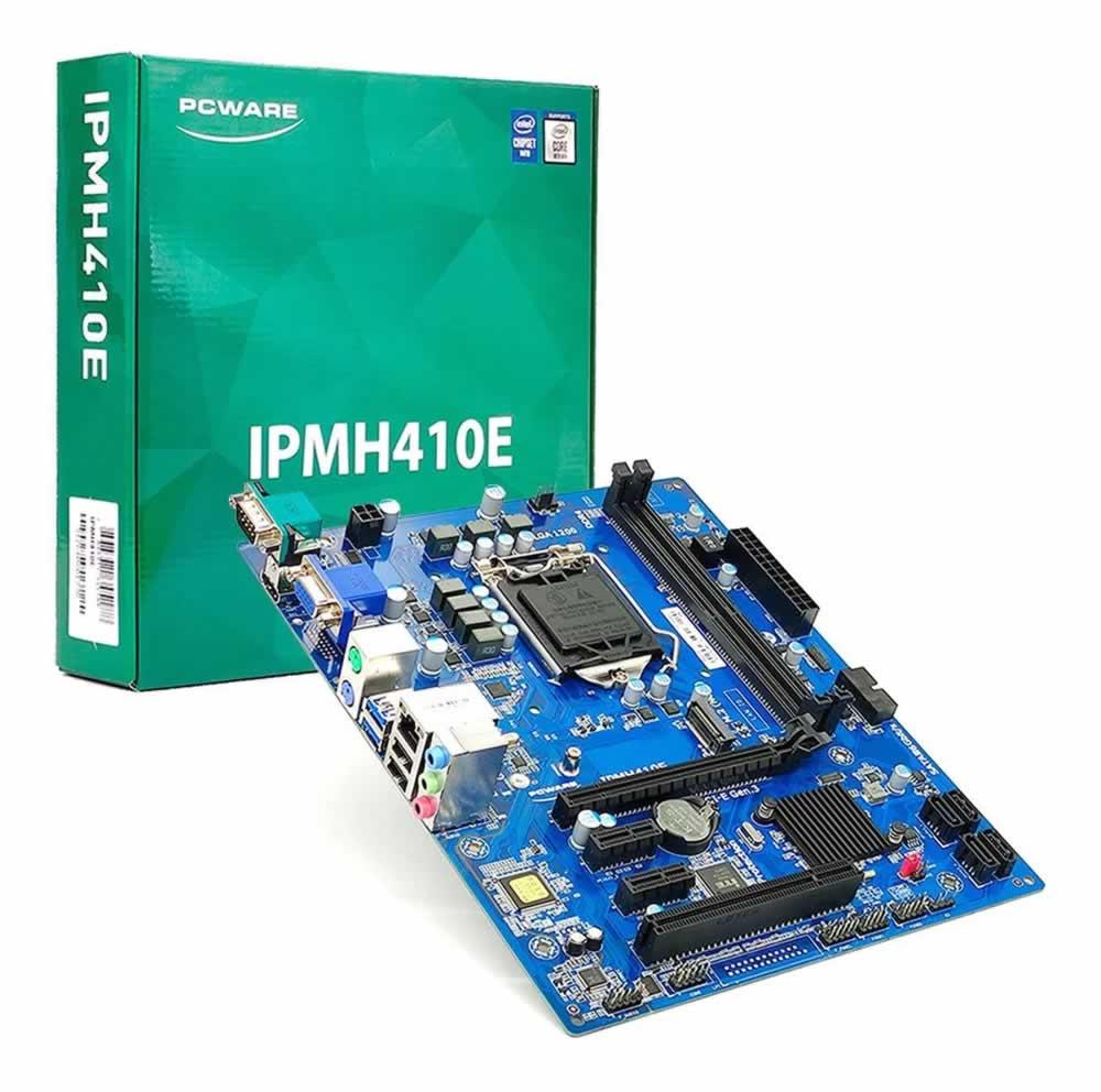 Placa Mãe LGA 1200 10ª Geração IPMH410E - Pcware