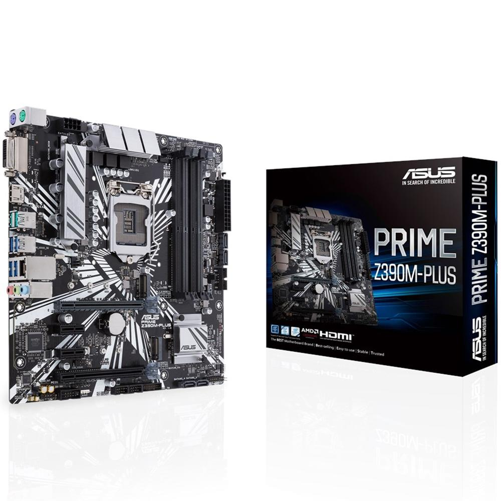 Placa Mãe Prime Z390M-Plus, Intel LGA 1151, DDR4 - Asus