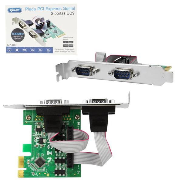 Placa PCI Express com 2 Seriais KP-T89 - Knup