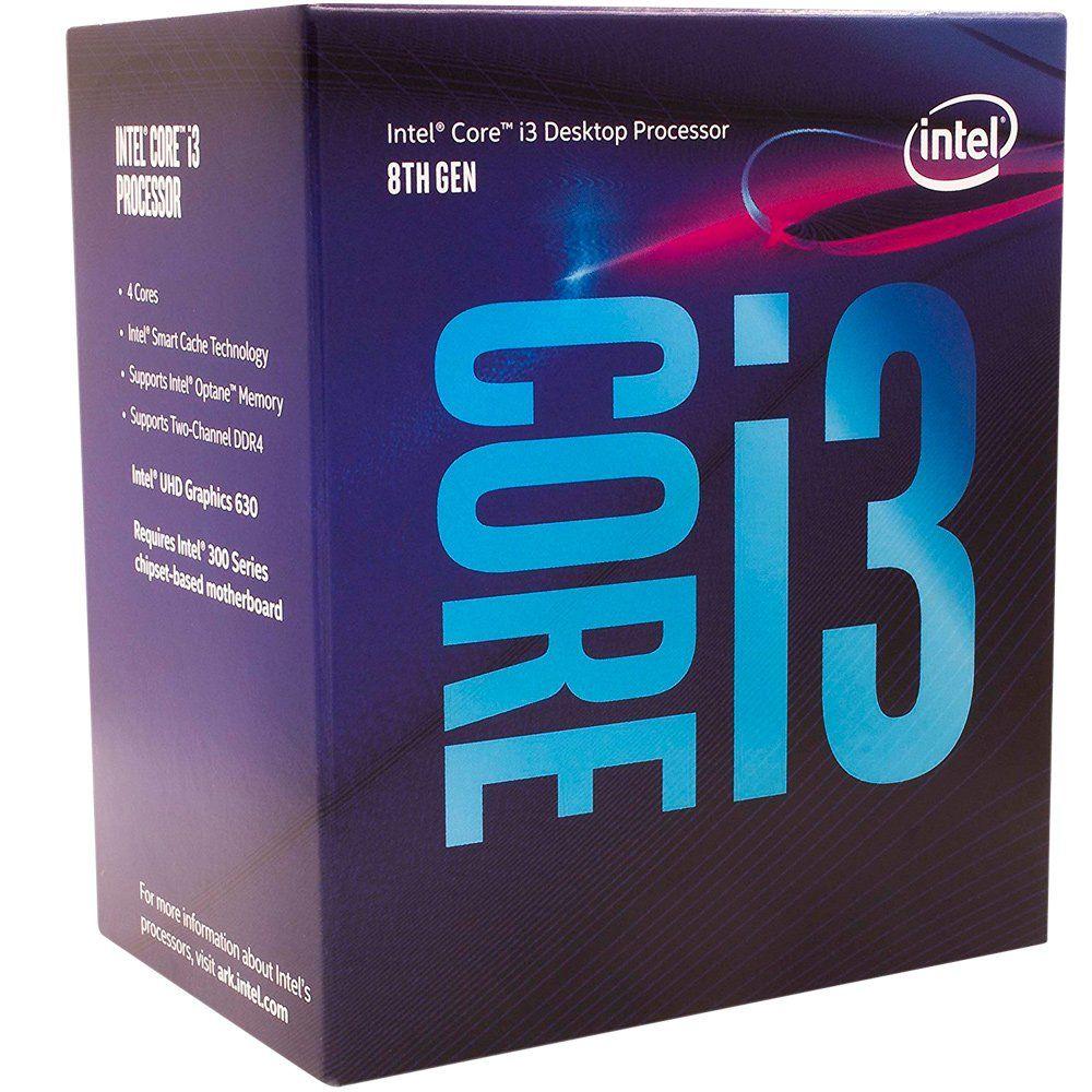 Processador 8ª Geração LGA 1151 Core i3 8100 3,6Ghz 6MB Coffee Lake BOX BX80684I38100 - Intel