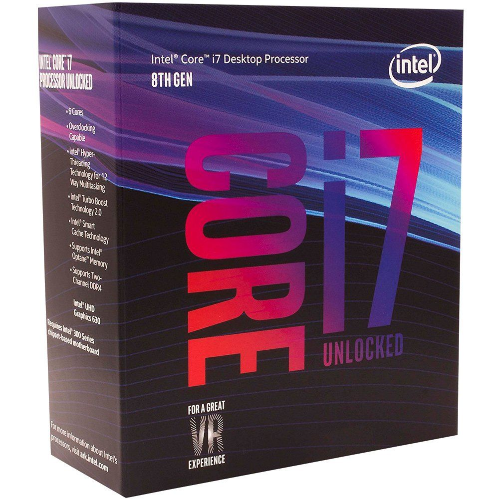 Processador 8ª Geração LGA 1151 Core i7 8700K 4.7Ghz 12MB Coffee Lake (Sem Cooler) BX80684I78700K - Intel