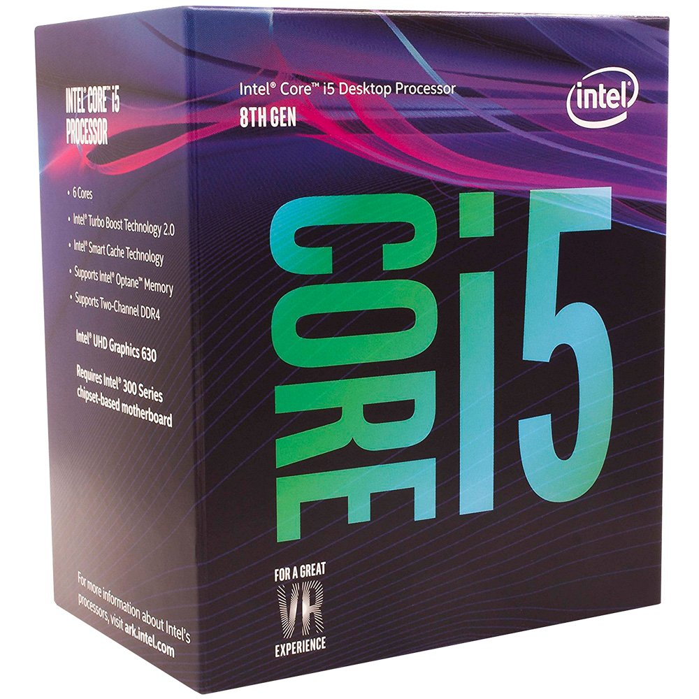 Processador 8ª Geração LGA 1151 i5 8400, 9MB, 2.8Ghz Intel UHD Graphics 630 BX80684I58400 Box - Intel