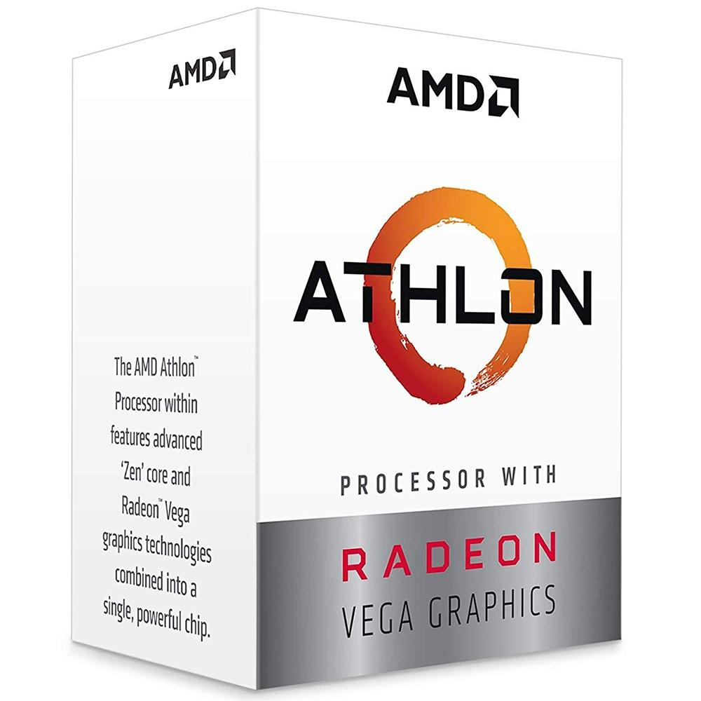 Processador AM4 Athlon 240GE, Cache 5MB, 3.5Ghz YD240GC6FBBOX - AMD