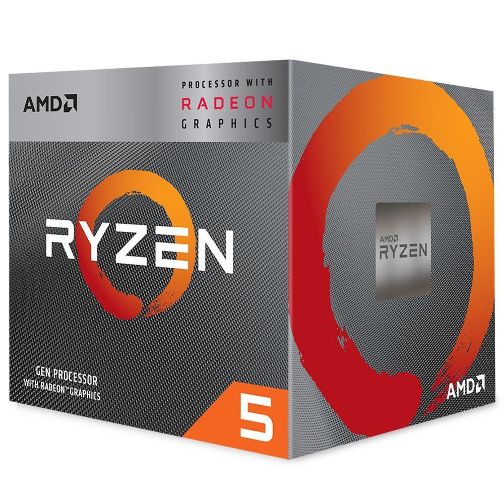 Processador AM4 Ryzen 5 3400G, Cache 4MB, 3.7Ghz (4.2Ghz Max Turbo) YD3400C5FHBOX - AMD