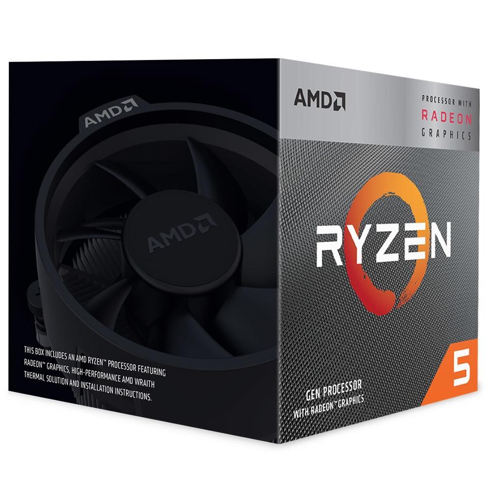 Processador AM4 Ryzen 5 3400G 3.7Ghz (4.2Ghz Max Turbo) Cache 6MB YD3400C5FHBOX - AMD