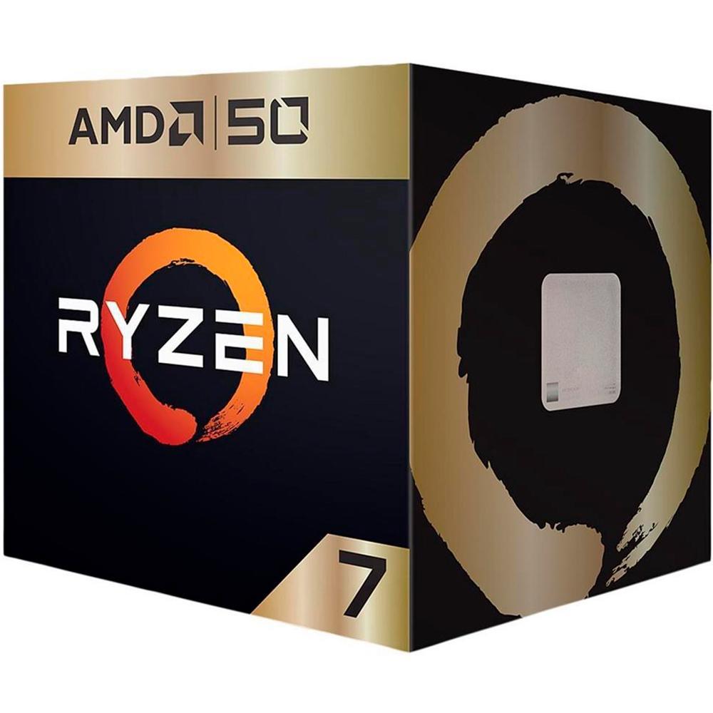 Processador AM4 Ryzen 7 2700X 3.7Ghz (4.3GHz Max Boost) Cache 20MB 50th Anniversary Edition com Wraith Spire Cooler YD270XBGAFA50 - AMD