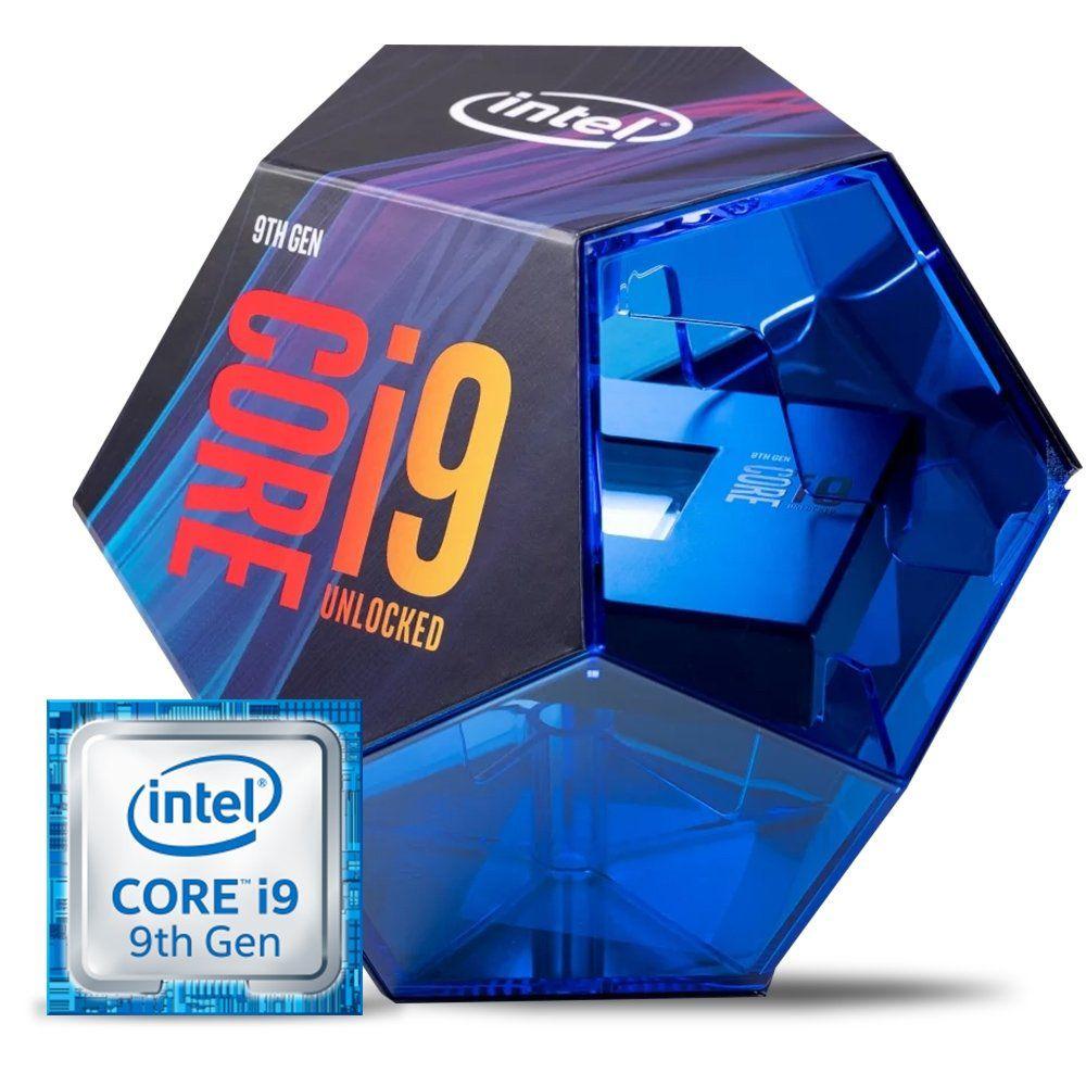 Processador Core i9-9900k 9ª Geração, Cache 16MB, 3.6GHz, LGA 1151BX80684I99900K sem cooler - Intel