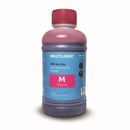 Refil de Tinta Compatível com Epson 250ml Magenta RF015 Multilaser