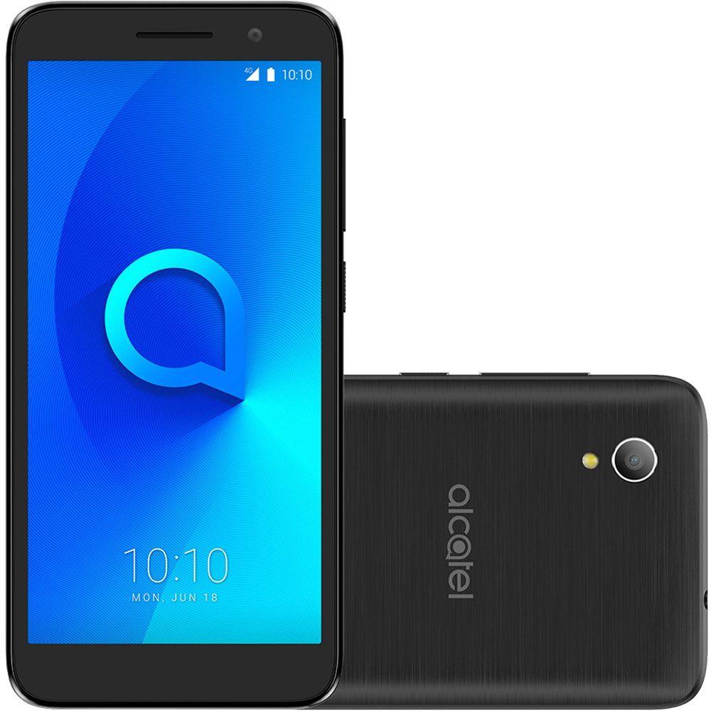 Smartphone 1 5033J, Quad Core, Android 8, Tela 5, 8MP, 8GB, 4G, Dual Chip Preto - Alcatel